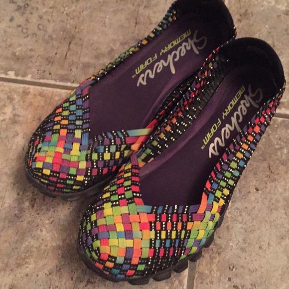 Foam 2 Shoes Poshmark Skechers Flex Rainbow Memory Weave Ez AgA84q